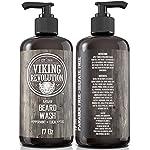 Beard Wash Shampoo w/Argan & Jojoba Oils - Softens & Strengthens - Natural Peppermint and Eucalyptus Scent - Beard… 4