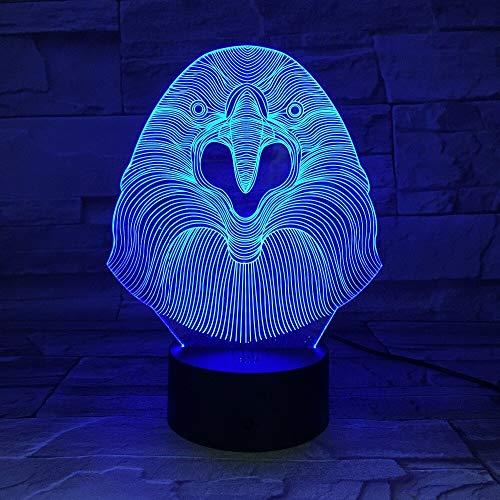 jiushixw 3D acryl nachtlampje met afstandsbediening kleur tafellamp inspiratie tafel baby liefde kinderen geschenk tafellamp Engels Fado