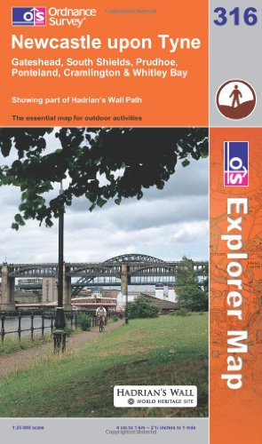OS Explorer map 316 : Newcastle upon Tyne