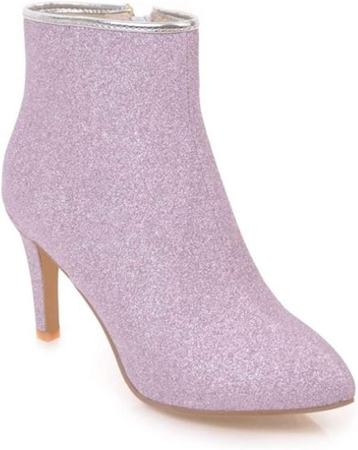 pink town Women's Sexy Sequins Pointed Toe Stiletto High Heel Bridal shoes