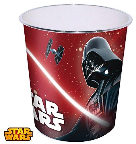 Papelera plastico grande 24x23cm de Star Wars
