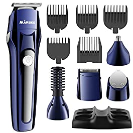 All in one Hair Trimmer for Men, Professional Hair Clipper Rechargeable Hair/Beard/Nose Hair/Body Trimmer Precision Trimmer for Detailing and Grooming, EOSVAP Electric Grooming Kit