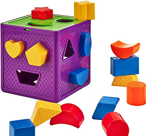 Great Price! HSFTILV Premium Wooden Shape Sorter Toy with 18 Colorful Solid Wood Geometric Shape Puz...