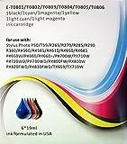 T0801-T0806, T0807 juego completo cartuchos de tinta compatibles para Epson Stylus Photo