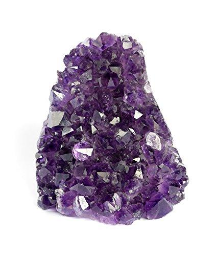 Deep Purple Project Large Amethyst Clusters Quartz Crystal Geode 1 Lb To 1.7 Lb Plus: Premium Gift Box Spiritual Healing Stone (500 Gr To 800 Gr)