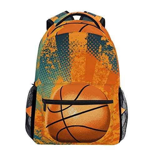 poiuytrew Baloncesto Jugando Mochila Estudiantes Bolsas de Hombro Mochila de Viaje Mochilas Escolares