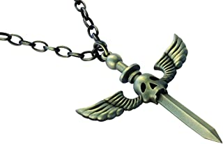 Bico Raw Faust'S Dilemma Pendant & Steel Chain Necklace (RF1P15A) - Pursuit of a Perfect Happiness