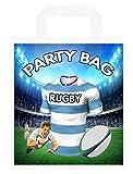 Bolsas para fiestas temáticas de rugby, para botín, eventos, colores de carreras (paquete de 6)