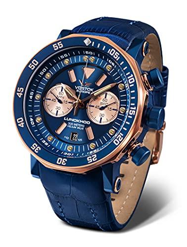 Vostok Europe Lunokhod 2 Grand Chrono 620E631 - Reloj para hombre, color azul y rosa