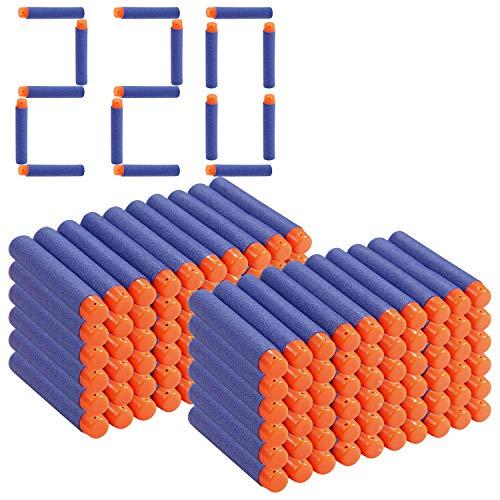 WOMGF 220er Darts Pfeile Für Nerf N-Strike Elite Bullets Zubehör für Nerfs Nachfüll-Pack Spielzeug Blau
