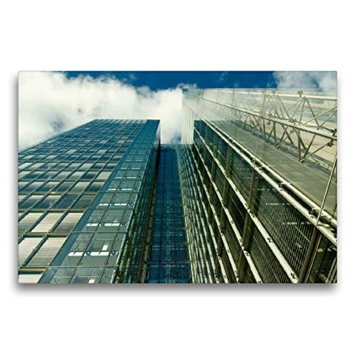 Portalámparas de cristal con efecto espejo de una casa alta con visión de cielo., 75x50 cm