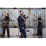 The Walking Dead Jeffrey Dean Morgan as Negan Arm at Side Holding Smile on Face 8 x 10 Inch Photo