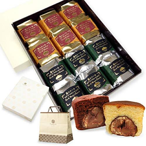 大粒栗のマロンケーキ ロアドマロン 12個入 手提げ紙袋付き お菓子 ギフト 詰め合わせ 個包装