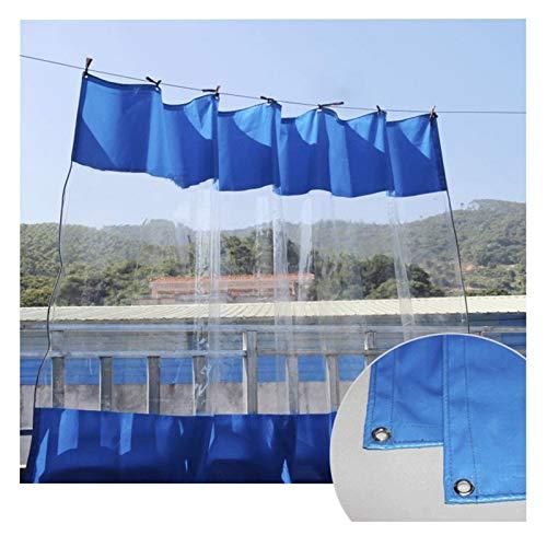 Lona Impermeable Patio Cortina, Intemperie Claro Cortina para Pérgola, Porche, Mirador, Cabaña Resistente Al Clima MYAN (Color : Blue, Size : 4x3m/13.1x9.8ft)