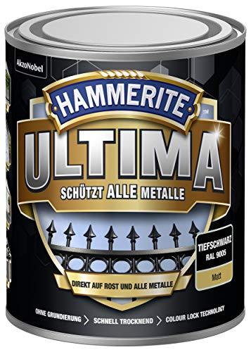 5379754 Hammerite ULTIMA Metallschutz Lack Rost 750ml Matt Tiefschwarz RAL 9005