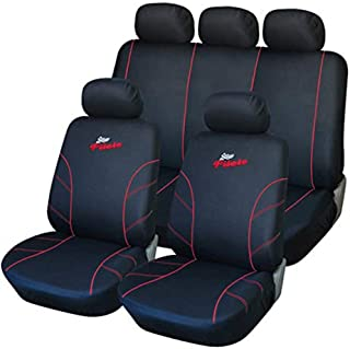 UKB4C Red Full Set Front /& Rear Car Seat Covers for Matiz 95-05