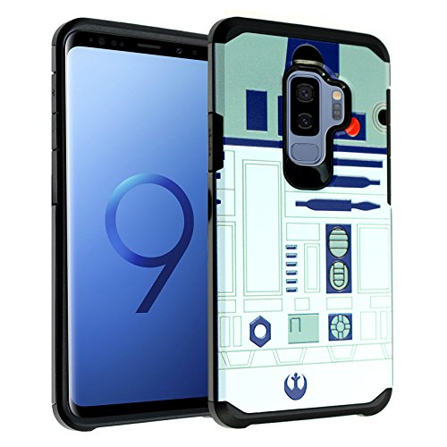 Galaxy S9+ Plus Star Wars R2D2 Astromech Droid Robot Case, DURARMOR Dual Layer Hybrid Shockproof Slim Fit Armor Cover for Galaxy S9 Plus (2018) Star Wars R2D2