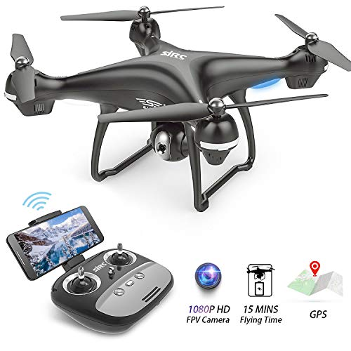 Drone with Camera for Adults 1080p HD Camera Drones with Live Video GPS...