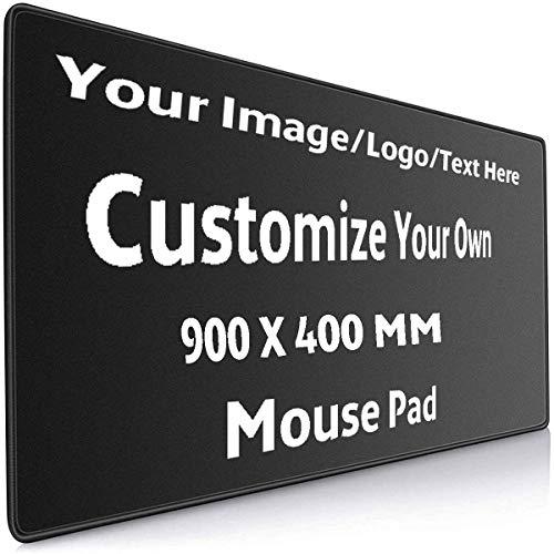 Benutzerdefiniertes Mauspad, große professionelle Gaming-Mausmatte mit genähten Kanten, personalisierte Tischmatte für Spieler, Büro und Privatanwender (35,44 x 15,75 Zoll)