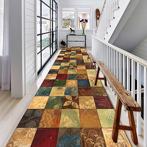 FCZBHT Tappeti Runner Modello Look Vintage Corridore Tappeto Moderno per Camera da Letto Cucina Corridoio, Molte Dimensioni, Personalizzabile (Color : A, Size : 60 * 300CM)