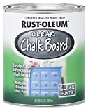 Rust-Oleum 284469 Specialty Chalkboard Brush-On Paint, 30 Oz, Clear