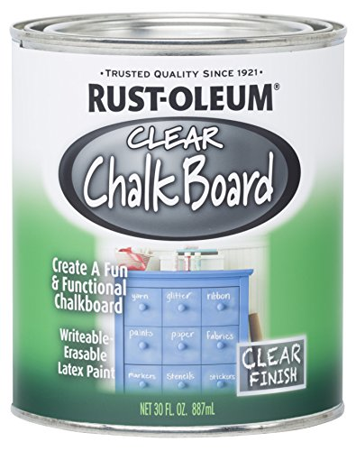 Rust-Oleum 284469-2PK Chalkboard Paint, 30 oz, Clear