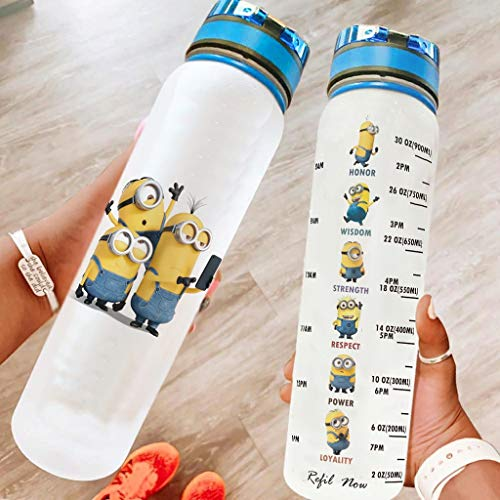 Schergen Sportflasche Groß Trinkflasche BPA Frei für Fitness Gym Heim Büro Outdoor Wasserflasche Weihnachten Halloween Geschenk blanco 1000ml