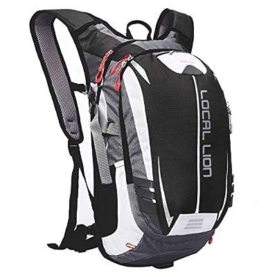 LOCAL LION Fahrradrucksack Trinkrucksack Reiserucksack Sportrucksack Tagesrucksack Alltags Daypacks Backpack Outdoor Ultraleicht Unisex 18L, Schwarz