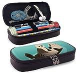 Estuche para lápices Cute Mom Sea Otter Patrón temático divertido Impreso Mini School Pencil Case Holder Pouch Office Pen Box Zipper Bag Set Pu Leather Zip para niñas Niño Accesorios
