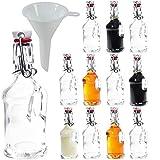 Viva-haushaltswaren–12mini vetro bottiglie/Gallone 40ml con chiusura