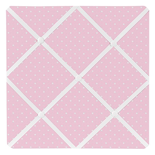Sweet Jojo Designs Pink Polka Dot Fabric Memory/Memo Photo Bulletin Board for Mod Dots Collection