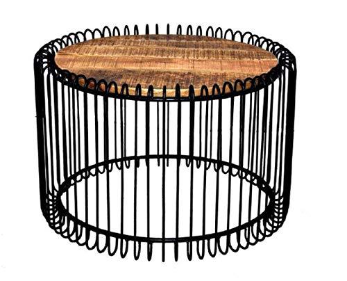 ANTARRIS Edel Couchtisch Beistelltisch Sofatisch rund H:B:T 45 x 70x 70cm im Edlen Design, mit versenkter Echtholz Massivholz Tischplatte Design: Made in Germany (Ebenholz_schwarz)