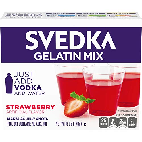 SVEDKA Gelatin Mix, Strawberry, 6.0 Ounce(Pack of 14)