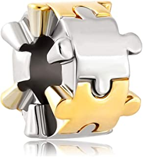 3617005b26 Envío GRATIS disponible. Poetic Charms Plata de ley 925 Espíritu de autismo  puzzle Charm pieza Spacer Beads Europea para