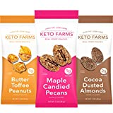 ✓ KETO SNACKS FOR YOUR SWEET TOOTH. Single-Serve Keto Friendly Candied Nuts - loaded with fancy nuts, a crunchy sugar-free coating and indulgent dessert flavors - satisfies candy cravings - 1-2g Net Carb ✓ SWEET AND CRUNCHY. Missing your favorite can...