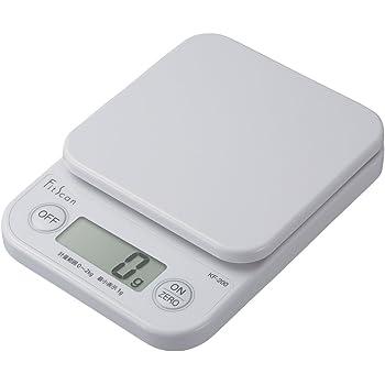 タニタ キッチンスケール はかり 料理 デジタル 2kg 1g単位 ホワイト KF-200 WH