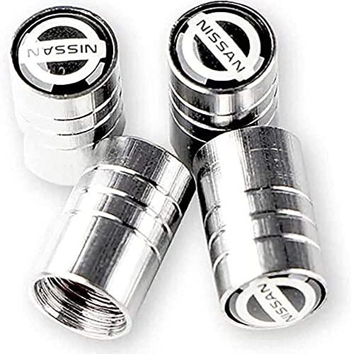 Cubierta de neumático a prueba de polvo antirrobo de aleación de aluminio cubierta de válvula de neumático de coche accesorios de neumáticopor Nissanas nismo x-trial almer kayasako tida tena