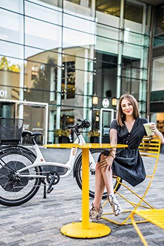 Elby Bike 9 Speed Electric Bike, White, 16.5'/One Size
