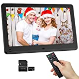 Digital Picture Frame 12 Inch IPS Screen 1920x1080 Resolution, Motion Sensor, 16:9 Ration, Include 32GB SD Card, Gift Choice for Families and Friends