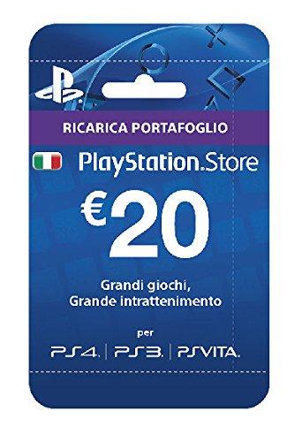 Sony Playstation live-kaarten hangen 20 euro