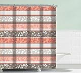 Daniel's Bath & Beyond Peach Shower Curtain Grace, one Size