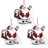 Adorno navideño 2020 Papá Noel con mascarilla Decorar árbol de Navidad Hogar y jardín Decoración del hogar