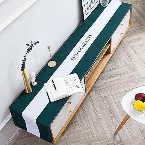 Nordic Minimalist Cotton And Linen Table Runner, Tv Cabinet, Drawers, Dressing Table, Dust Cover, Dining Table Decoration 35x180cm