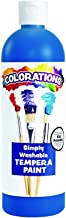 Colorations Washable Tempera Paint, 16 fl oz, Blue, Non Toxic, Vibrant, Bold, Kids Paint, Craft, Hobby, Fun, Art Supplies