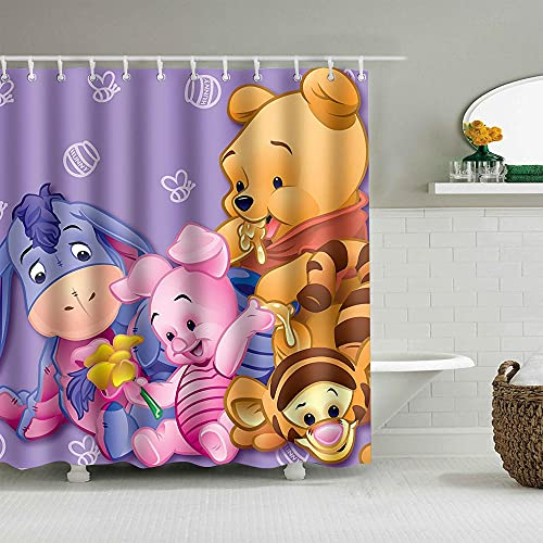 YHNM Polyester Anti-Schimmel Duschvorhang,Winnie The Pooh 60