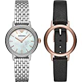 Emporio Armani Women's Two-Hand Silver-Tone Stainless Steel Watch AR80020