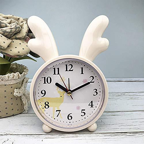 Wecker Wecker Kreative Uhr Alarm entzückende Kaninchen Bett süße Kinder Cartoon Mute Uhr Student einfache Baby Zimmer Dekor Yello