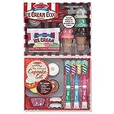 Melissa & Doug Bake & Decorate Cupcake Set and Scoop & Stack Ice Cream Cone Playset