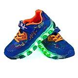 LED Zapatos,CE Certificado,Primavera-Verano-Otoño Transpirable Zapatillas LED Niños 7 Colores Recargables Luz Zapatos de Deporte de Zapatillas con Luces para Niños Niñas