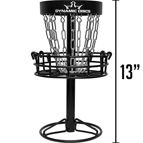 Dynamic Discs Micro Recruit Basket | Desktop Disc Golf Basket | 13 Inches Tall, Footprint of just Over 6 Inches, and Weighs 3.5lbs